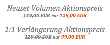 Beautex Neuset Volumen Wimpernverlängerung Aktionspreis