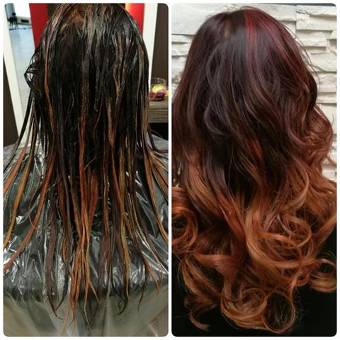 Red is Faction - Balayage Ombre Look