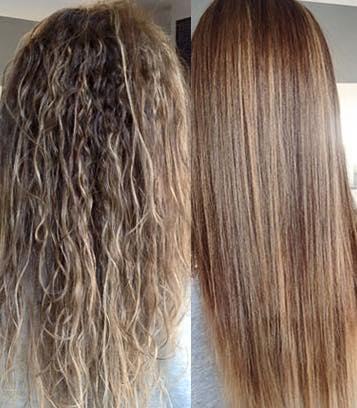 Dauerhafte Haarglättung mit Newsha