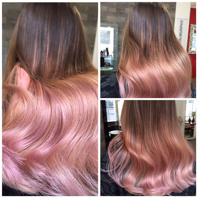 Rose Gold Balayage Look