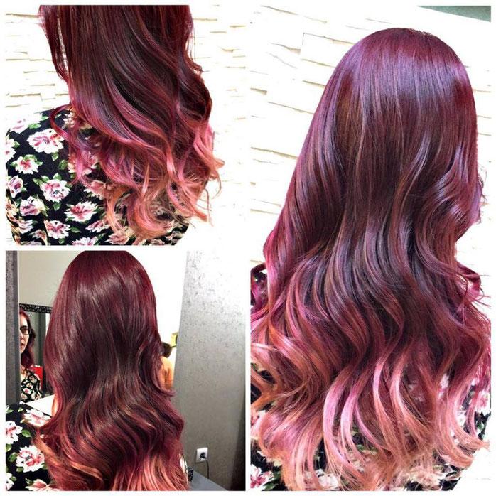 Violett Ombre Look