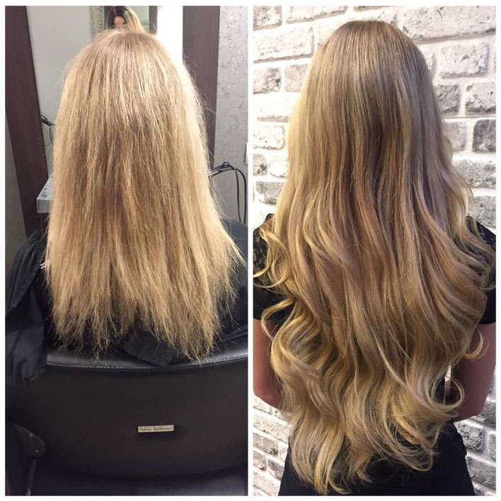 Wundervolle Haarverlängerung